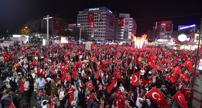 Democracy rallies have attracted large crowds every night in the capital Ankara and 80 other provinces of Turkey where they turned into a symbol of patriotism and democracy, following the July 15 coup attempt.