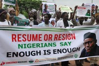 Concerned Nigerians demand ailing President Buhari either 'resume or resign'