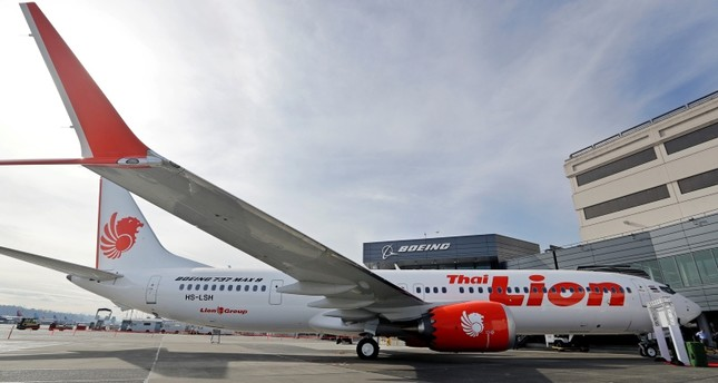 This March 21, 2018, file photo shows Boeing's first 737 MAX 9 jet at the company's delivery center before a ceremony transferring ownership to Thai Lion Air in Seattle. (AP Photo)