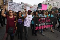 Despite huge online uproar, few show up for #MeToo march in Hollywood against sexual abuse