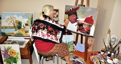 pAn 84-year-old woman has held her first art exhibition March 8 International Women's Day in Turkey's northern Zonguldak province, 14 years after she first started painting./p
