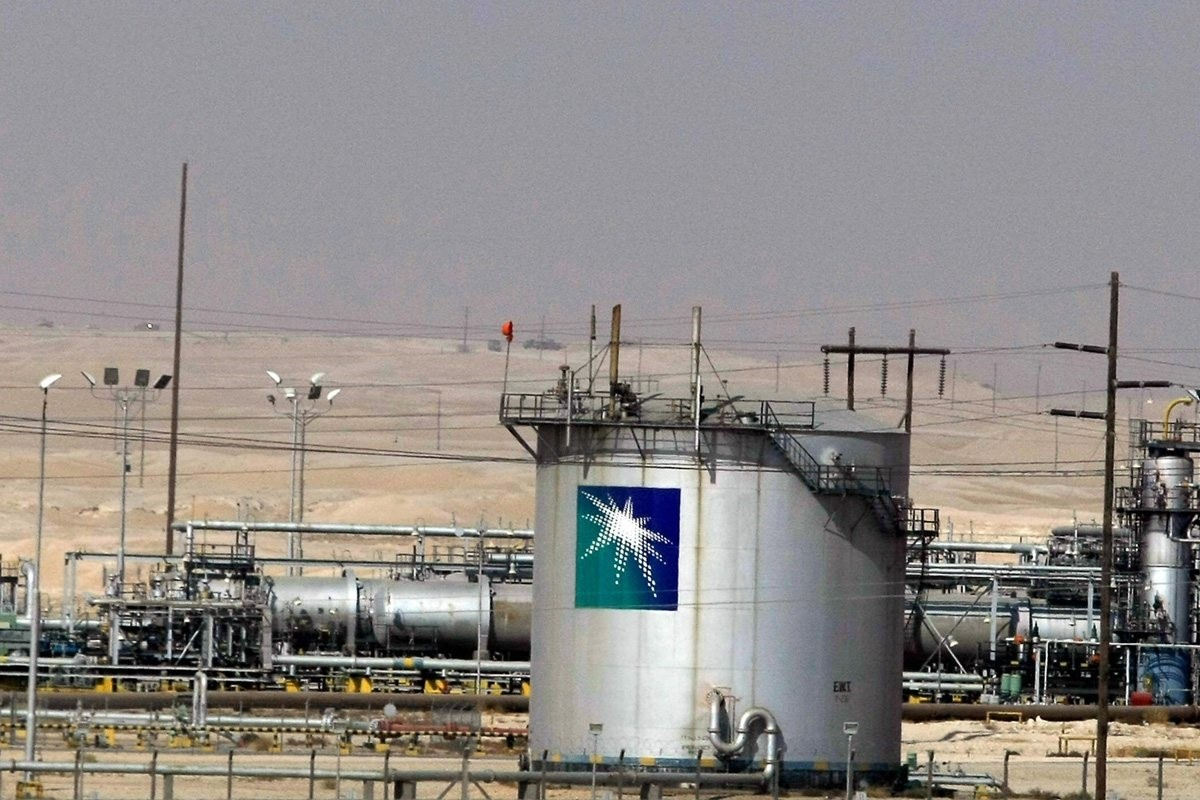 A Saudi Aramco oil facility in Dammam, 450 kilometers east of the capital Riyadh.