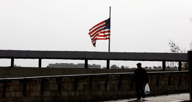 A United States flag flies over a complex belonging to the U.S. consulate in Jerusalem, January 22, 2018. (REUTERS Photo)