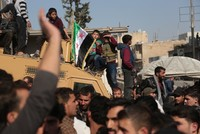 Syrians protest ongoing terrorist attacks killed 18 civilians