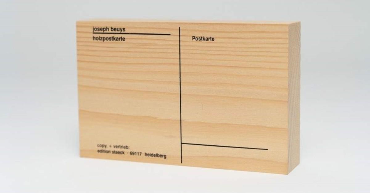 Joseph Beuys, ,Wood Postcard, (1974)