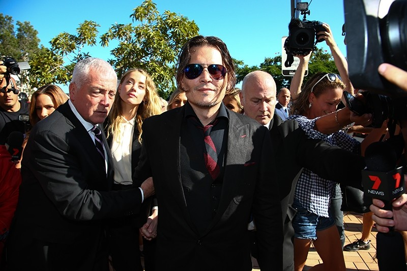 This file photo taken on April 18, 2016 shows US actor Johnny Depp arriving at a court in the Gold Coast. (AFP Photo)