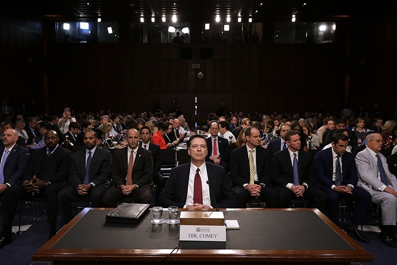 Former FBI Director James Comey testifies before the Senate Intelligence Committee in the Hart Senate Office Building on Capitol Hill June 8, 2017 in Washington, DC. (AFP Photo)