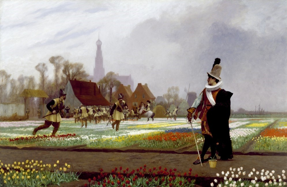 In the first quarter of the 17th century, tulip mania thrived in the Netherlands where tulips were sold for unbelievable prices.