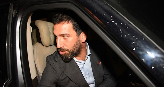 Arda Turan seen in Etiler, Istanbul after giving his statement to the police about the incident with Berkay. Sabah Photo
