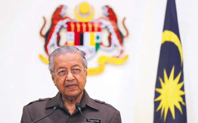 Malaysian Prime Minister Mahathir Mohamad speaks during a press conference in Putrajaya, Malaysia, Monday, April 15, 2019.