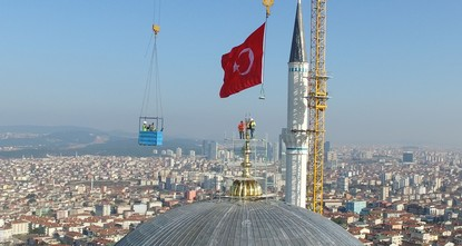 pThe world's biggest finial which is 7.77 meters long and has a weight of 4.5 tons was placed on Saturday on top of the dome at Istanbul's towering Çamlıca mosque./p  pThe nanotechnology...