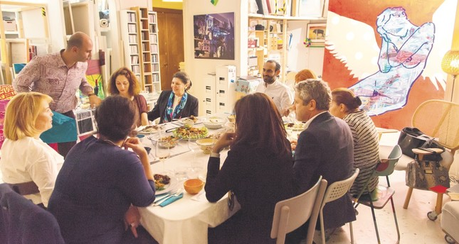 A dinner party hosted in Turkey. YeatUp works as a platform for people who want to create a special menu and dining experience from their homes and for customers who want to dine out in a unique homey setting.