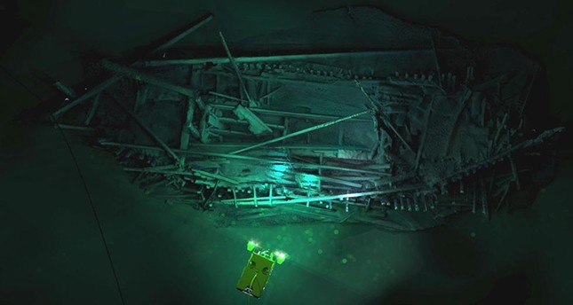 Photogrammetric model of Ottoman wreck overlaid with Supporter ROV. (Photo Credit: Rodrigo Pacheco-Ruiz, University of Southampton website)