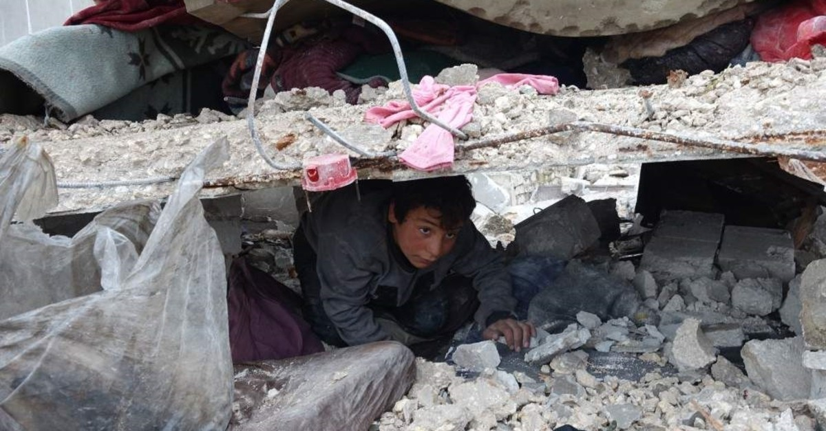 At least nine civilians were killed by Russian airstrikes in Syria's northwestern Idlib province on Jan. 20, 2020. (AA Photo)