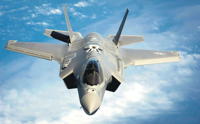 Two U.S. F-35 fighter jets arrived in NATO member Estonia to take part in the military alliance's drills, April 25.