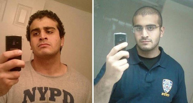A combination of two undated photos from a social media accounts of show Orlando mass shooting attacker Omar Mateen. Sabah Photo