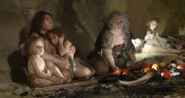 An exhibit depicting the life of a Neanderthal family in a cave in the new Neanderthal Museum, Croatia. (REUTERS)