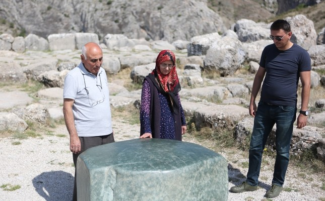 Archaeologists strive to solve mystery of giant ancient green rock in central Turkey