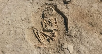 В Турции обнаружили древний скелет ребенка