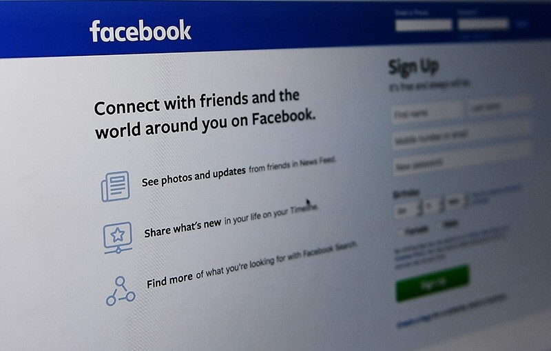 An Oct. 11, 2018 photo shows the Facebook log-in page in Washington, DC. (AFP Photo)