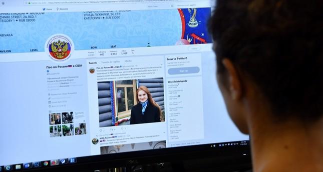 إعلان اعتقال المرأة الروسية منشور على صفحة السفارة الروسية في الولايات المتحدة (الفرنسية)