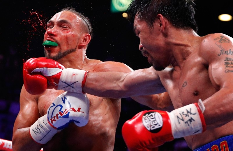 Manny Pacquiao beats Keith Thurman to capture WBA title