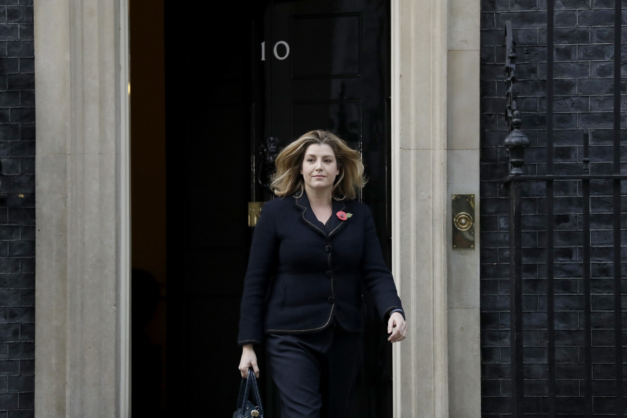 Britain's newly appointed Secretary of State for International Development Penny Mordaunt leaves 10 Downing Street in London, Thursday, Nov. 9, 2017. (AP Photo)