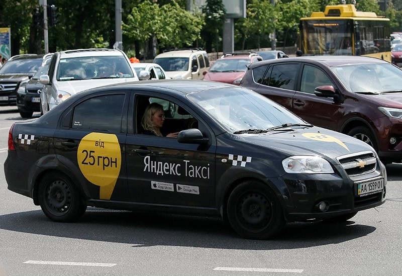 A yandex taxi is seen in central Kiev, Ukraine, May 16, 2017. (Reuters Photo)