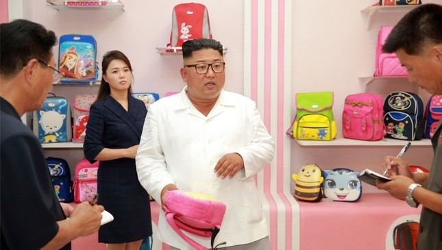 North Korean leader Kim Jong Un inspects a factory in this undated photo released by North Korea's Korean Central News Agency KCNA on July 25, 2018. KCNA via Reuters