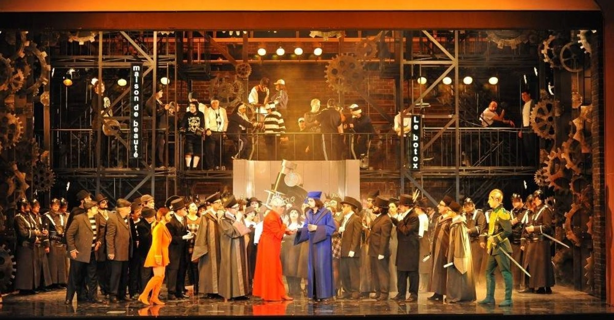 A scene from opera ,Faust.,