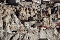 Rock-carved houses of the land of the fairy chimneys reflect centuries-old tradition