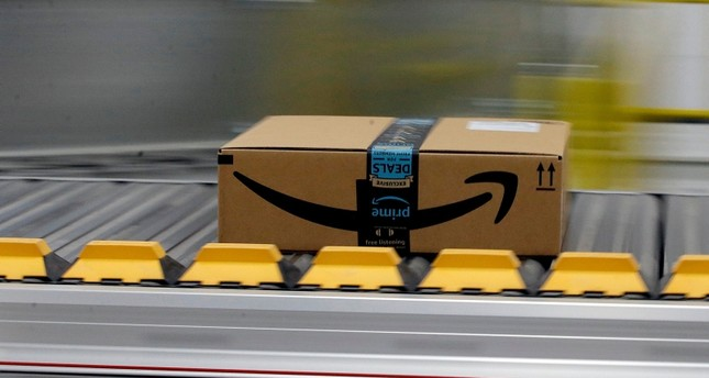 In this Feb. 9, 2018, file photo, a box for an Amazon prime customer moves through the new Amazon Fulfillment Center in Sacramento, Calif. AP Photo