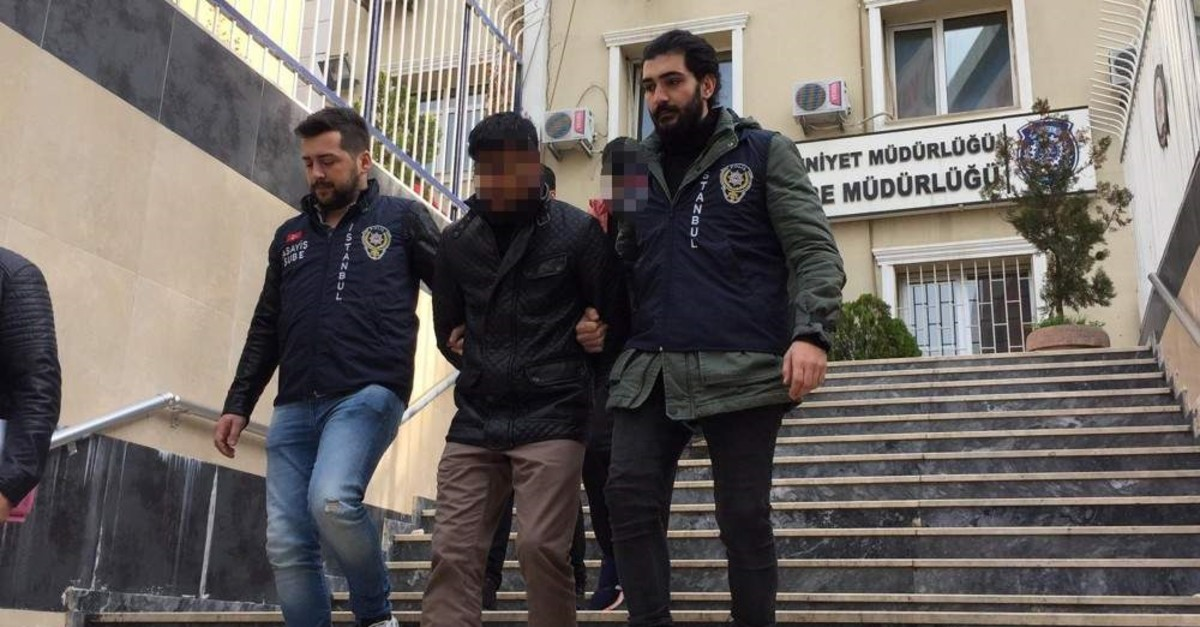 Police officers escort members of a gang of robbers who called themselves ,Ninja Turtles,, Istanbul, Dec. 18, 2019. (Photo by Emir Somer)
