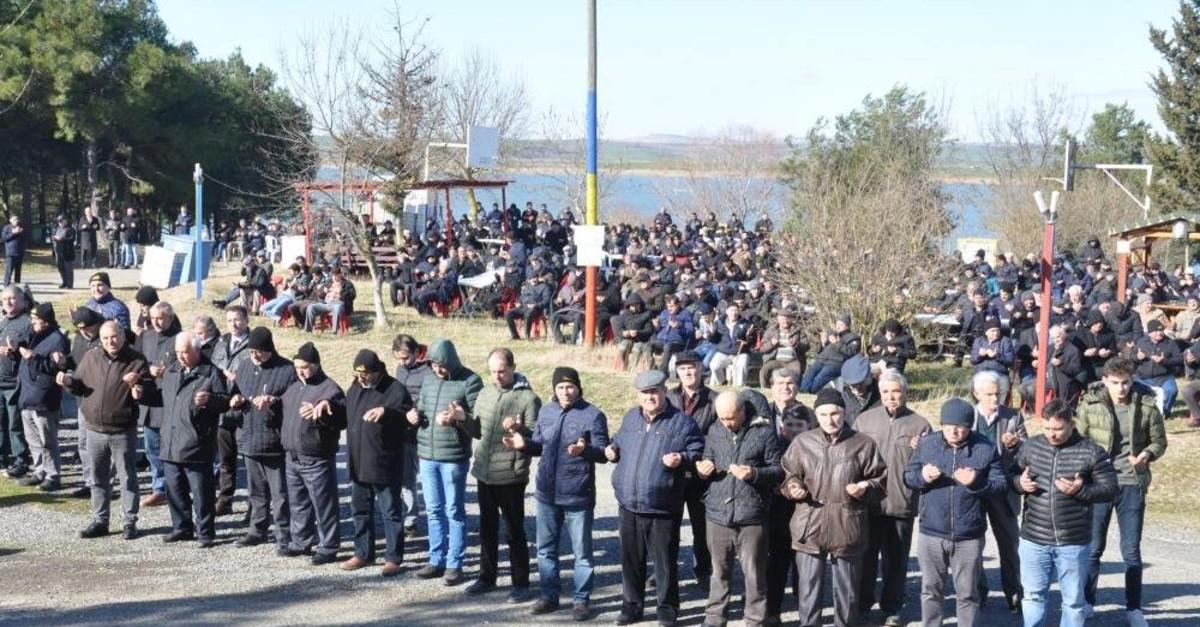 Some 3,000 people joined a prayer for rain in Malkara district, Tekirda?, Jan. 31, 2020. (DHA Photo)