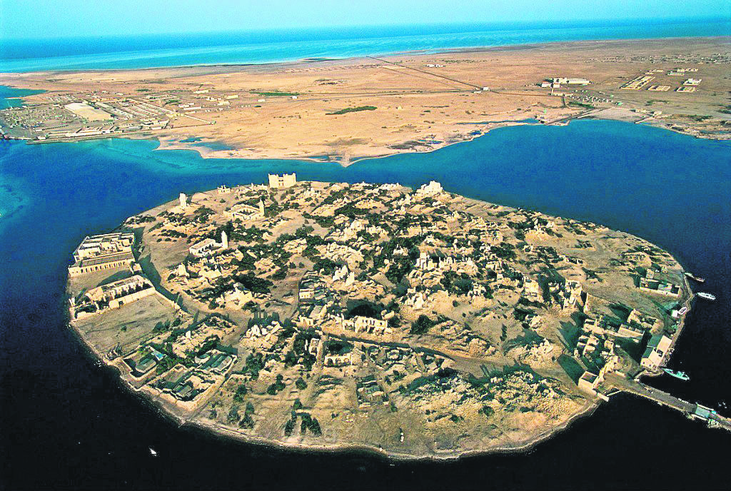 An aerial view of Suakin Island, which was a part of Ottoman Empire from the 15th to the 19th centuries.