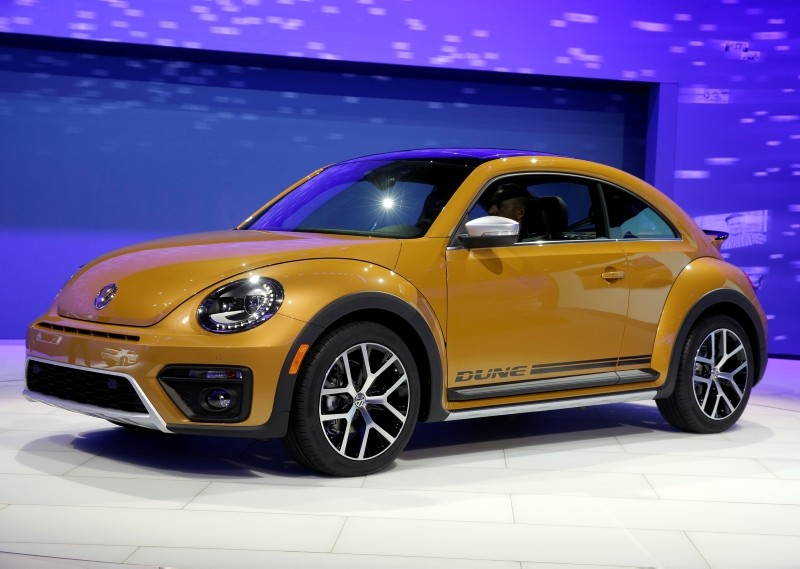 In this Nov. 18, 2015, file photo the 2017 Volkswagen Beetle Dune is displayed at the Los Angeles Auto Show in Los Angeles. (AP Photo)