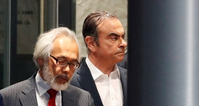 Former Nissan Motor Chariman Carlos Ghosn leaves the Tokyo Detention House in Tokyo, Japan April 25, 2019. REUTERS Photo
