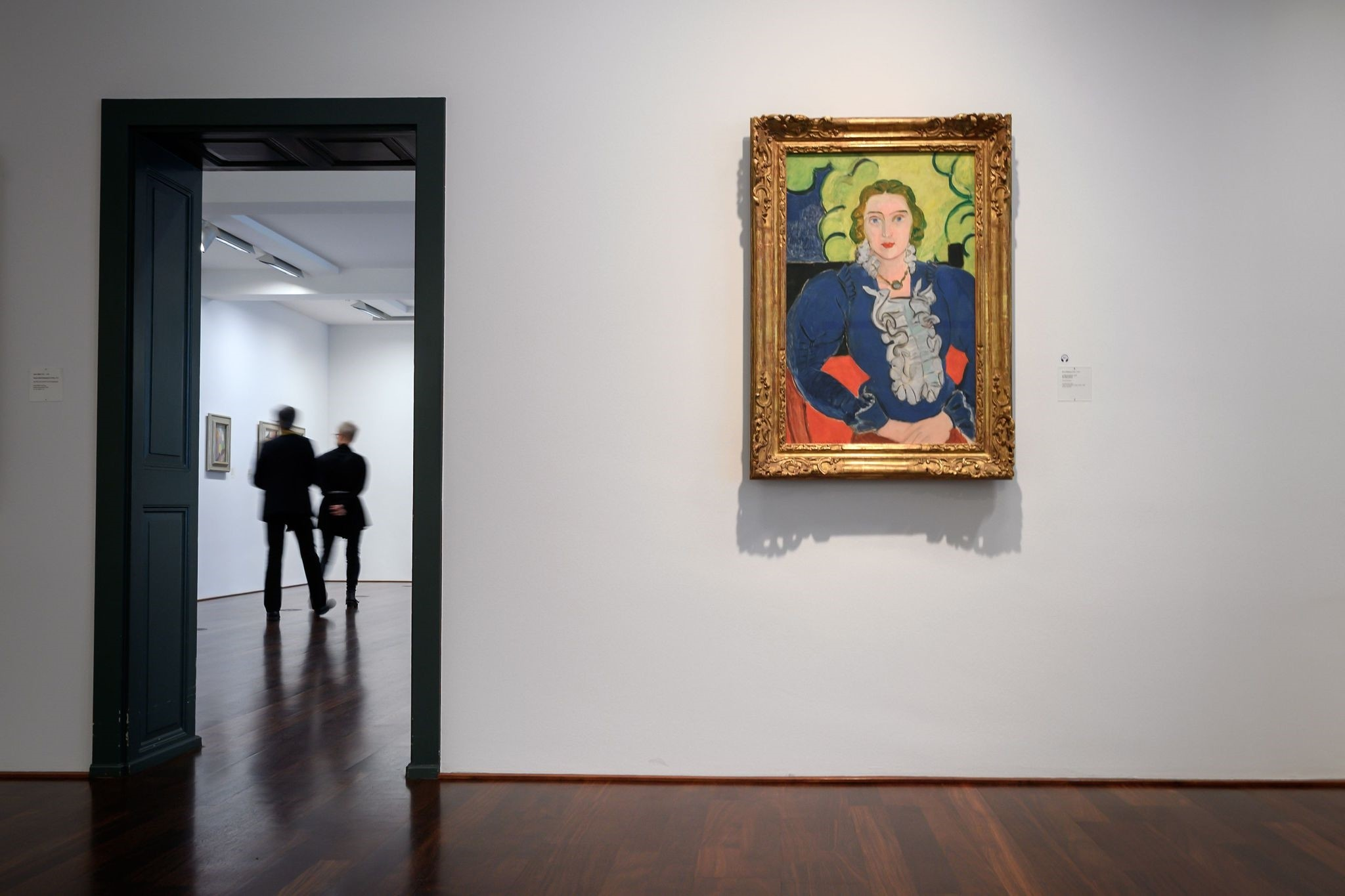A painting by Henri Matisse entitled ,The Blue Blouse, is seen at the Kunstmuseum Bern.