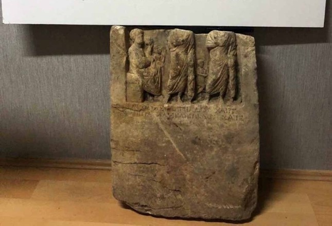 Police recover ancient Armenian king's tombstone in antismuggling op in Turkey's Balıkesir