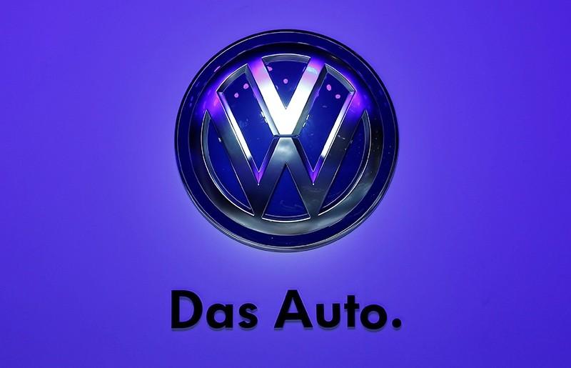 The Volkswagen logo is seen at the Frankfurt Motor Show (IAA) in Frankfurt, Germany, Sept. 10, 2013. (Reuters Photo)
