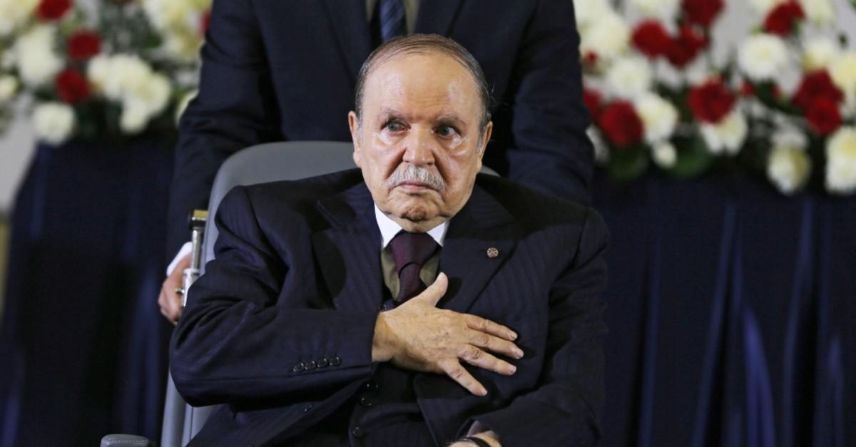 Algerian President Abdelaziz Bouteflika was re-elected for a fourth mandate, Algiers, April 28, 2014.