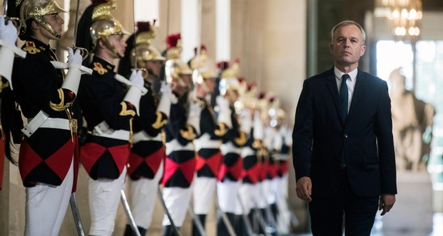 In this July 3, 2017 file photo, then French Parliament President Francois de Rugy walks through the galerie des Bustes (Busts gallery) at the Chateau de Versailles, outside Paris. (AP Photo)