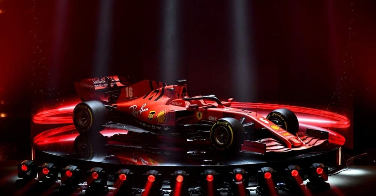 Ferrari unveiled the new Formula One race car SF1000 during the presentation in Italy, Feb. 11, 2020. (Reuters Photo)