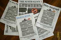 Australian papers redact front pages to protest censorship