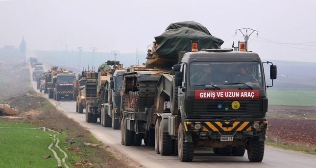 آليات عسكرية في شمال سوريا ضمن اتفاق أستانا (من الأرشيف)