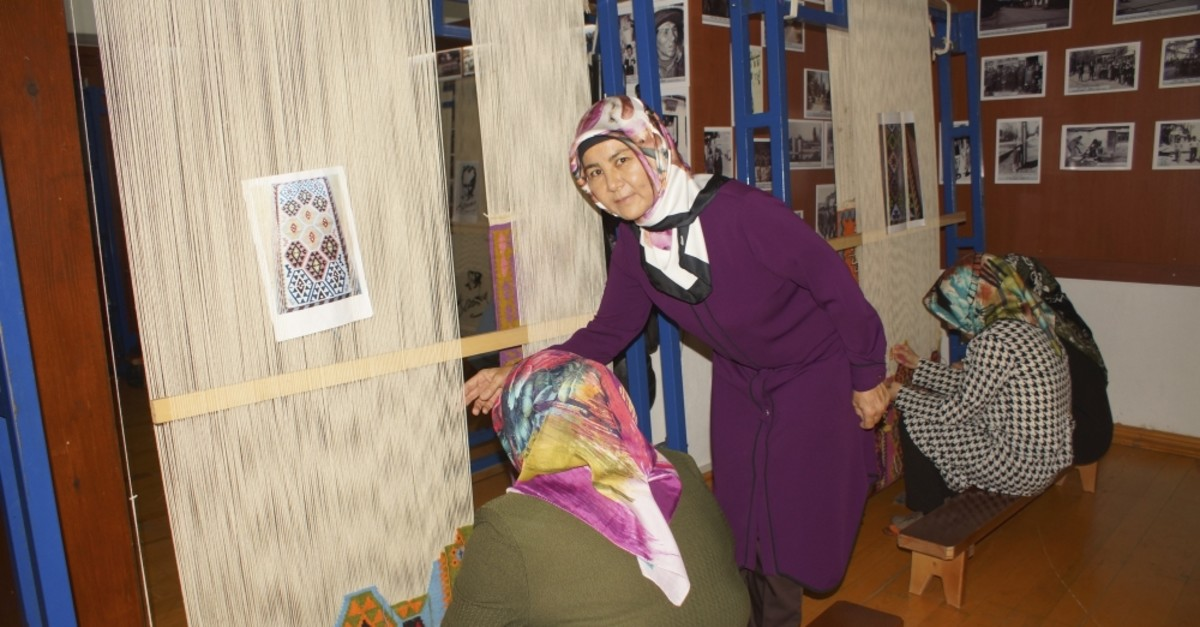 Levent has been teaching rug weaving to more than 60 women for two years.