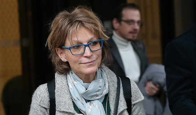 U.N. Special Rapporteur on Extrajudicial and Arbitrary Executions Agnes Callamard leaves her hotel in the Şişli district of Istanbul on Jan. 31, 2019. (AA Photo)