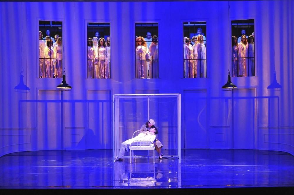 A scene from the play ,Rake's Progress.,