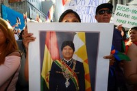 Protestors march in Buenos Aires in support of Bolivia's Morales