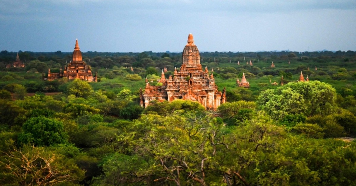This photo shows a general view of ancient pagodas in Bagan on July 6, 2019 (AFP Photo)